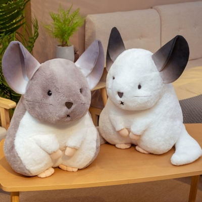 Kawaii Plushies Whispering Chinchillas Trio Cute Stuffed Animals
