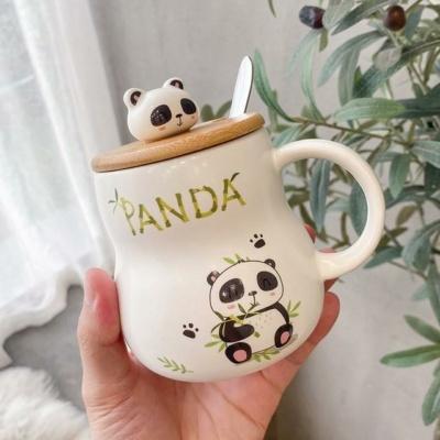 Kawaii Mug Ceramic Emotional Panda Mugs Cute Cup