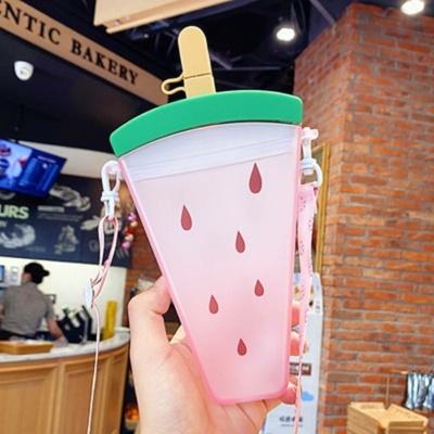 Kawaii Ice Cream Strawberry Fruit Water Bottle
