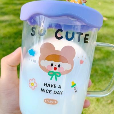 Kawaii Have A Nice Day Glass Cute Coffee Mug
