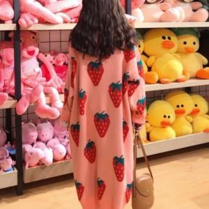 Cute Sweater Dress Kawaii Strawberry