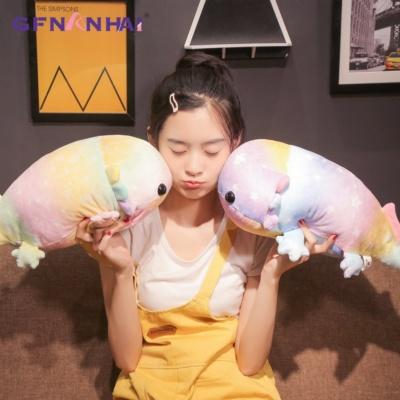 Kawaii Axolotl Plush Colorful Fish Stuffed Toy