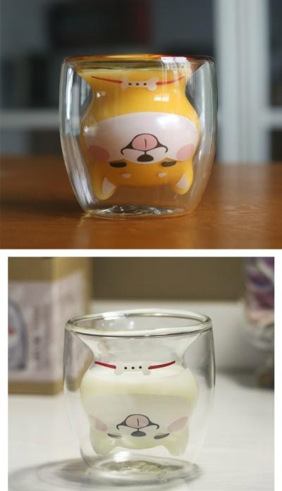 Kawaii Dog Shiba Inu Glass Cup