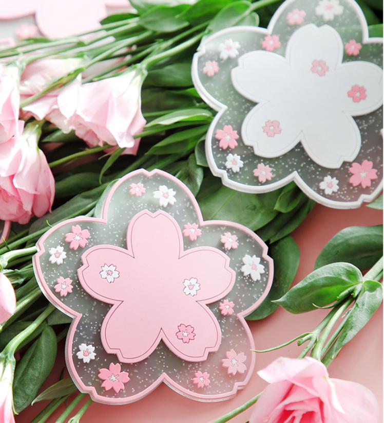 Kawaii Cute Sakura Cup Mat