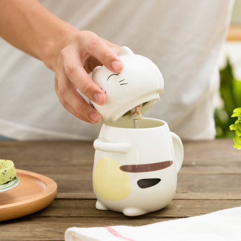 Kawaii Neko Cat Ceramic Mug – Limited Edition