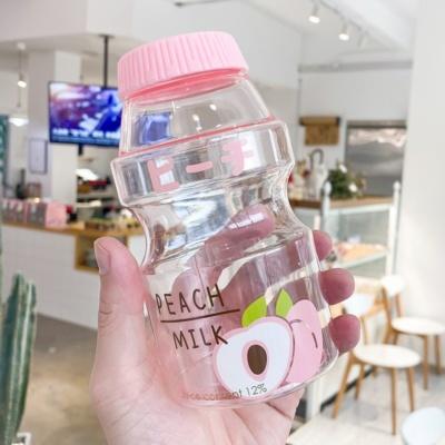 Kawaii Fruits Peach Strawberry Avocado Milk Bottle