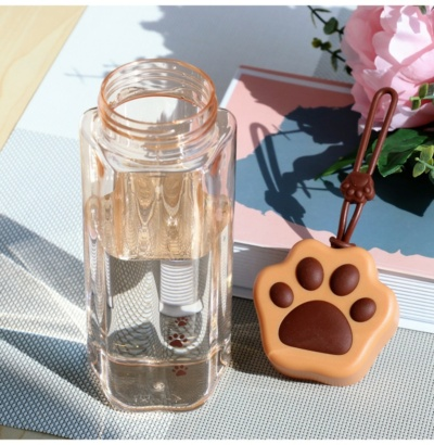 Kawaii Cat Paw Transparent Glass Bottle
