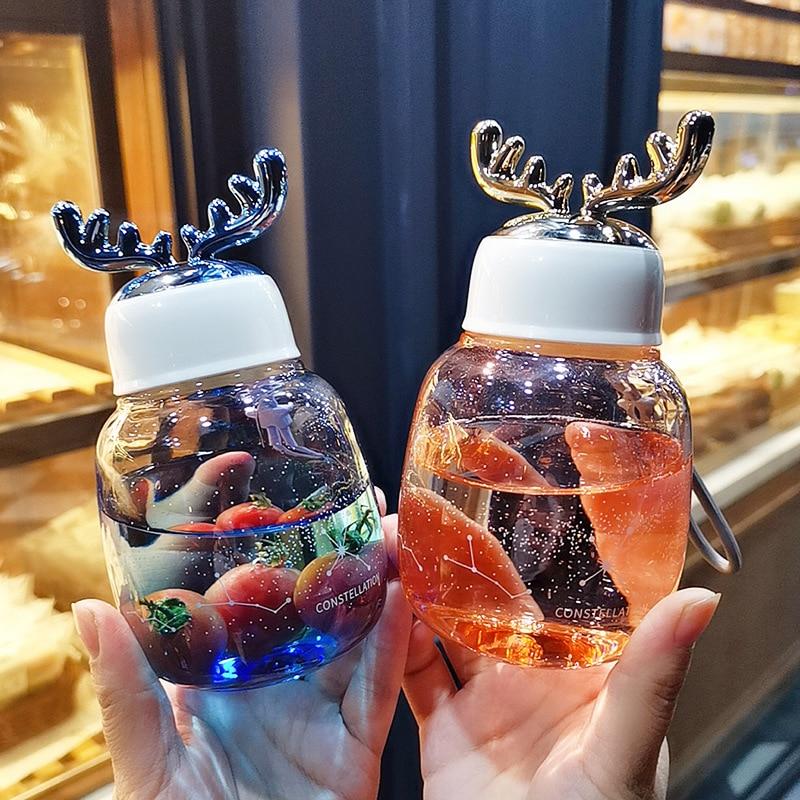 Kawaii Reindeer Glass Bottle (300ml) – Limited Edition