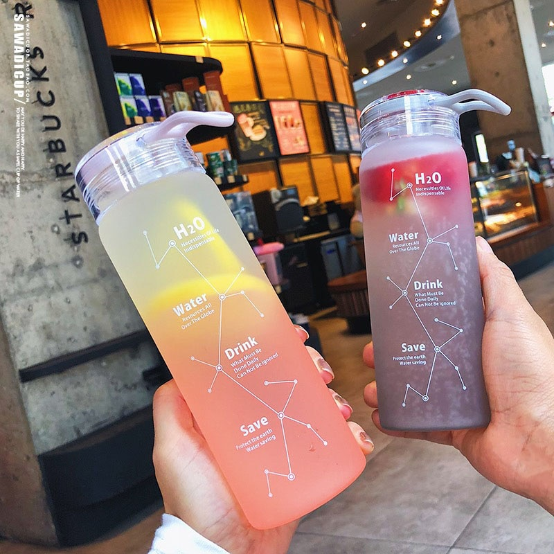 Kawaii Sky Constellation Frosted Glass Bottle (460ml)