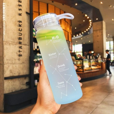 Sky Constellation Frosted Glass Water Bottle