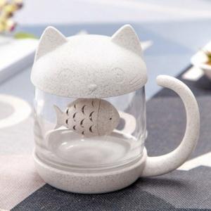 Kawaii Kitty Cat Puffer Fish Mug