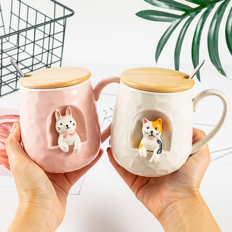 Kawaii Cute Animal Ceramic Cup (430ml)