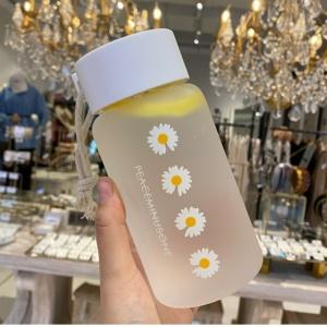 Cute Daisy Frosted Kawaii Water Bottle