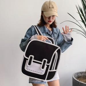 Kawaii Bag Cartoon 3D Canvas Backpack