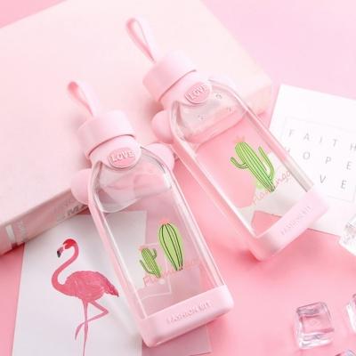 Kawaii Pink Flamingo Cute Water Bottle