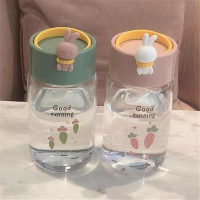 Cute Bunny Rabbit Kawaii Water Bottle