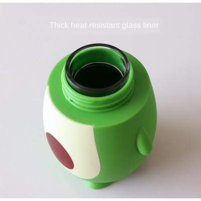 Kawaii Baby Avocado Glass Bottle