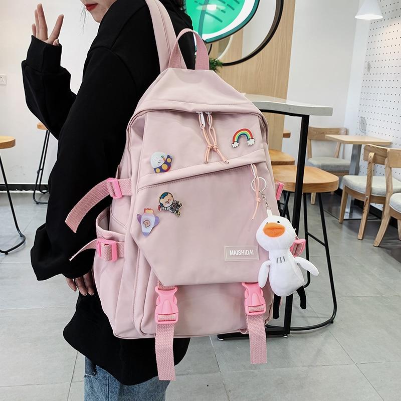 Kawaii Canvas Korea Style Backpack – Limited Edition