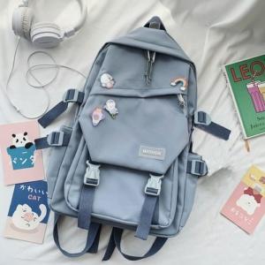 Kawaii Canvas Japanese Style Backpack