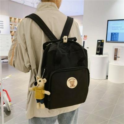 Kawaii Bear Canvas Style Backpack