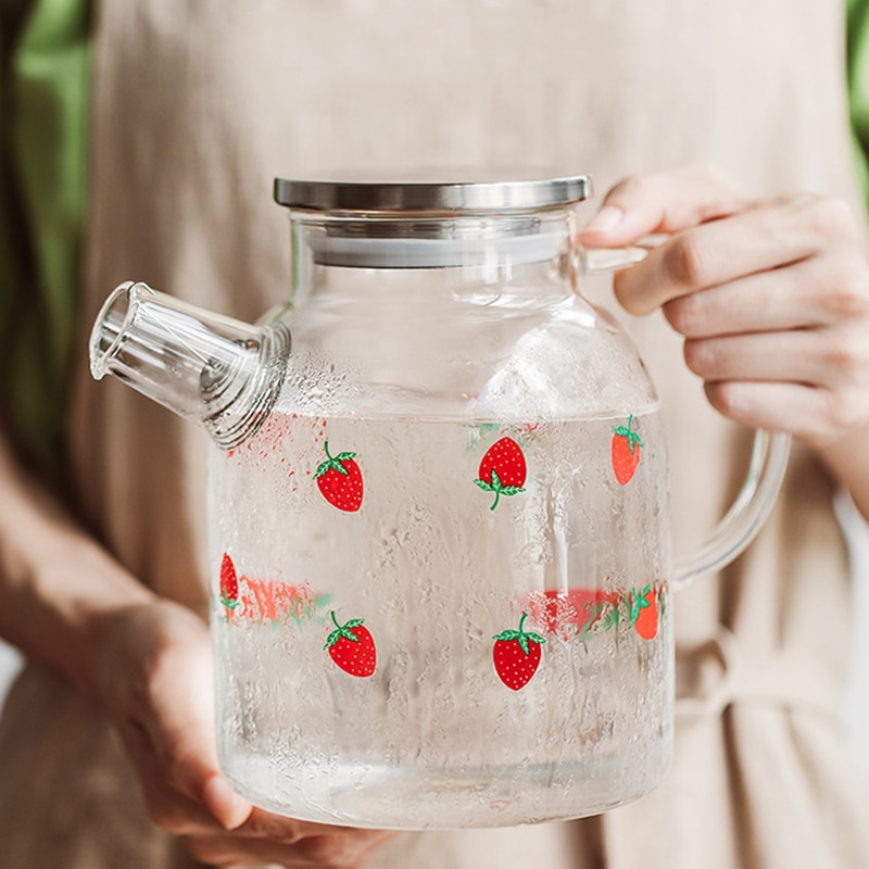 Kawaii Strawberry Glass Tea Pot – Limited Edition