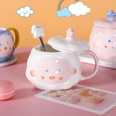 Cute Cloud Mug With Lid and Spoon