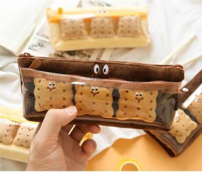 Kawaii Biscuit Plush Pencil Case
