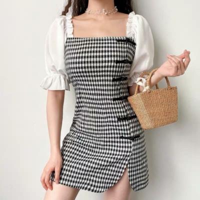 Cute Style Plaid Dress