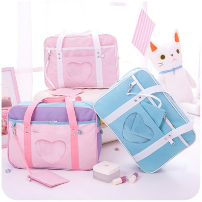 Kawaii Pink Heart Travel Bag