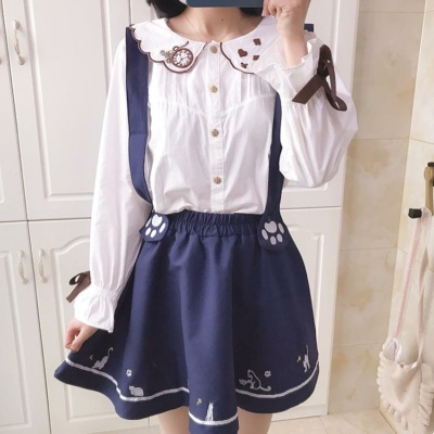 Cat Skirt Kawaii Cat Paws Suspender