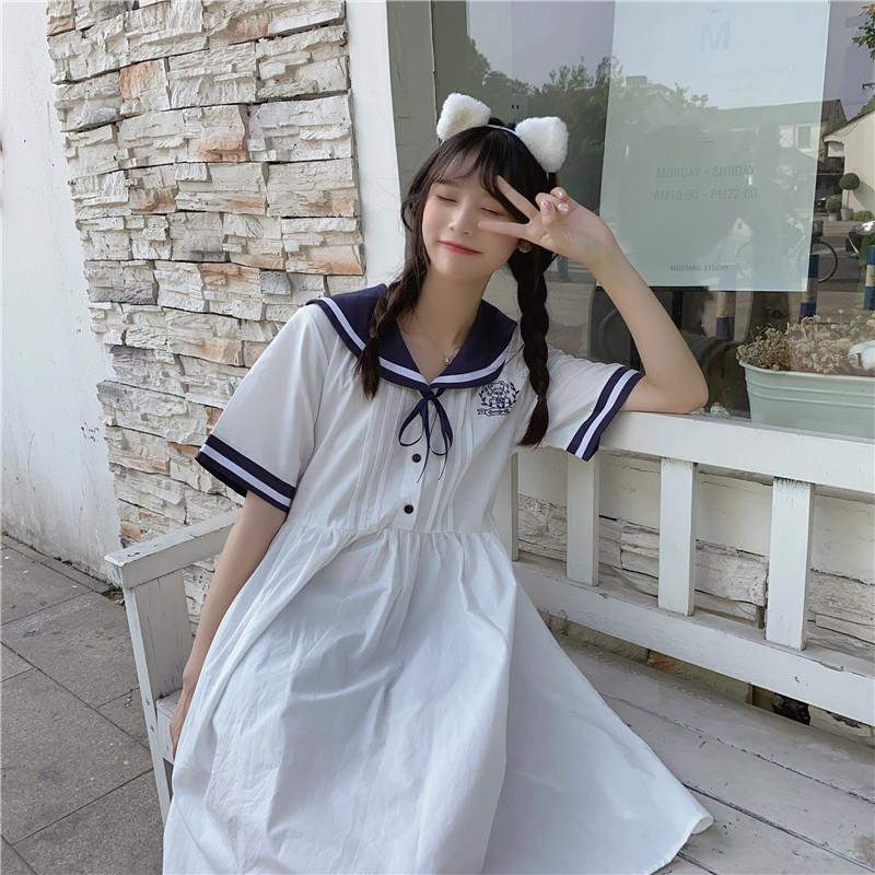 Kawaii Cute Sailor Collar Dress