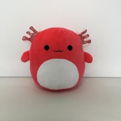 Kawaii Axolotl Plush Blue Red Stuffed Animal