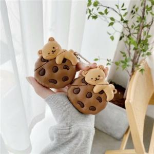 Kawaii Cookie Bear Airpods Case 1 & 2 Pro