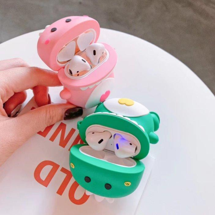 Kawaii Dino Lovers Airpods Cases (1&2&Pro)