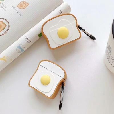 Kawaii Egg Toast Airpods Case 1 & 2 & Pro