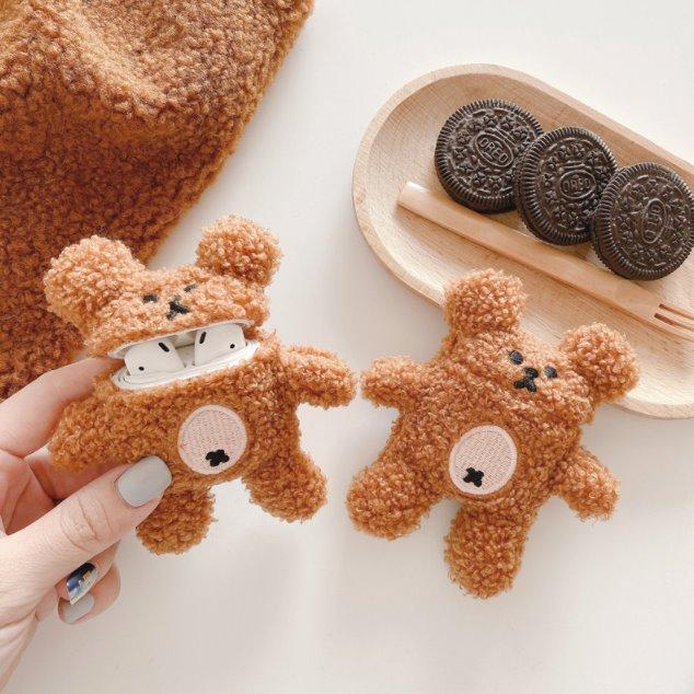 Kawaii Fluffy Bear Airpods Case (1&2&Pro)