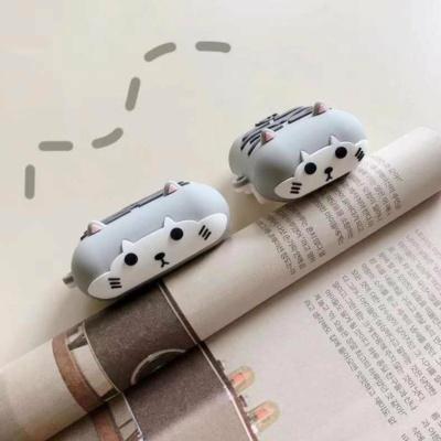 Kawaii Grey Kitty Airpods Case 1 & 2 & Pro