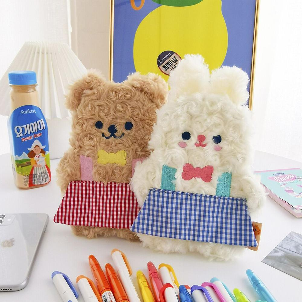 Kawaii Milkjoy Rabbit And Bear Duo Plush Pencil
