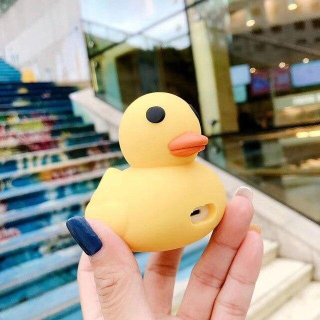 Kawaii Rubber Duck Airpods Case (1&2)