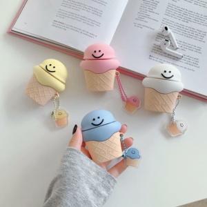 Kawaii Smiley Ice Cream Airpods Case 1 & 2 & Pro