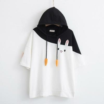 Kawaii Bunny Carrot Hoodie Cute Tee