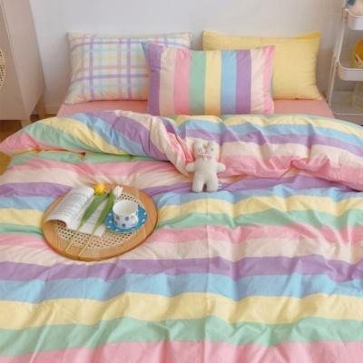 Kawaii Fashion Rainbow Bedding Set