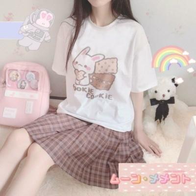 Kawaii Bunny Cookie Harajuku Tee