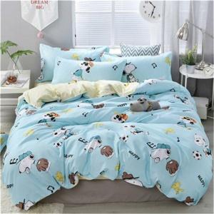 Kawaii Happy Dog Printing 3/4 PCS Bedding Set