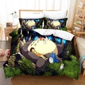 Kawaii Totoro With Friends 2/3 Pcs Bedding Set