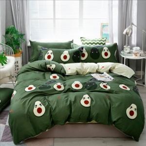 Kawaii Avocado Green 3/4 PCS Bedding Set