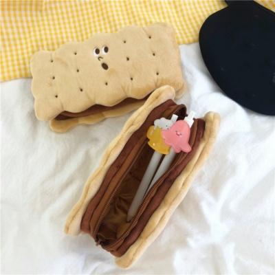 Biscuit Shape Plush Pencil Box