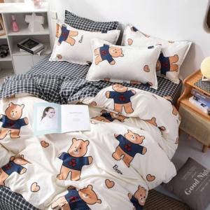 Kawaii Bear Print 3/4 PCS Bedding Set