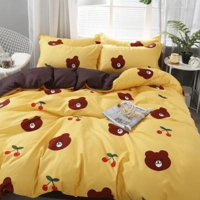 KawaII Bear 3PCS Yellow Bedding Set
