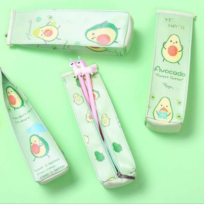 Kawaii Avocado Pencil Case